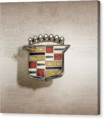 Cadillac Badge Canvas Print by YoPedro