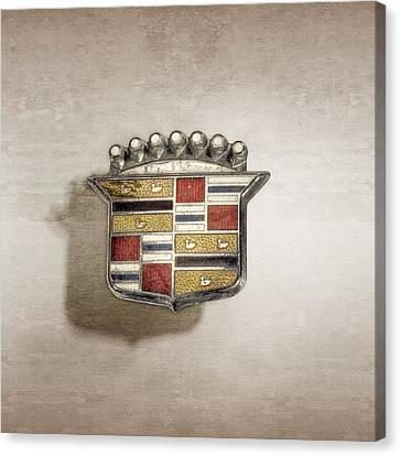Cadillac Badge Canvas Print by YoPedro