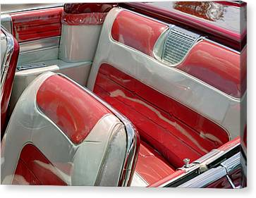 Cadillac El Dorado 1958 Seats. Miami Canvas Print by Juan Carlos Ferro Duque