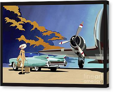 Canvas Print - Cadillac Eldorado 1959 by Sassan Filsoof