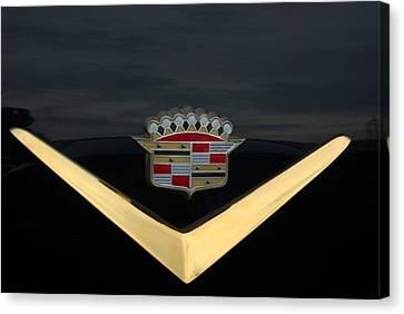 Cadillac Hood Emblem Canvas Print by Tim McCullough