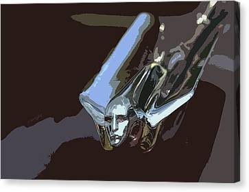 1949 Cadillac Hood Ornament Canvas Print by Yvonne Wright