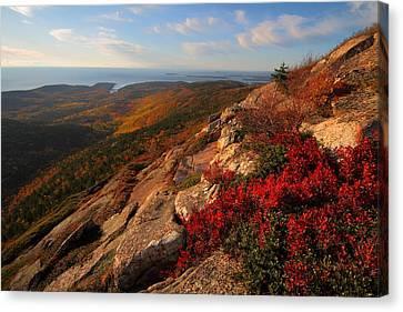 Cadillac Mountain Sunrise At Acadia National Park Canvas Print by Jetson Nguyen