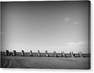 Amarillo Texas Canvas Print - Cadillac Ranch 4 by John Gusky