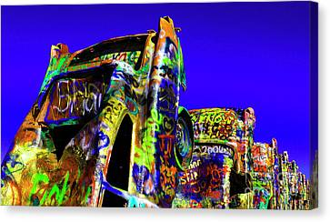 Cadillac Ranch 5 Canvas Print by Bob Christopher