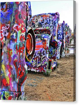 Cadillac Ranch Canvas Print by Angela Wright