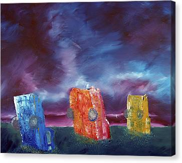 Cadillac Ranch Canvas Print by Jera Sky