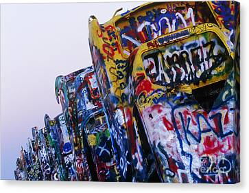 Cadillac Ranch Canvas Print by Jeremy Woodhouse