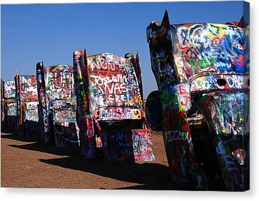 Amarillo Texas Canvas Print - Cadillac Ranch On Route 66 by Susanne Van Hulst