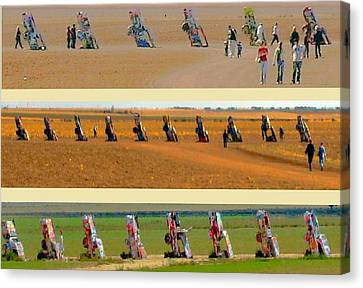 Robert Morrissey Canvas Print - Cadillac Ranch Revisited by Robert Morrissey
