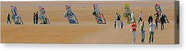 Robert Morrissey Canvas Print - Cadillac Ranch by Robert Morrissey