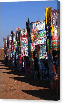Cadillac Ranch Route 66 Canvas Print by Susanne Van Hulst