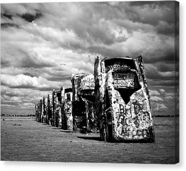 Cadillac Ranch Canvas Print by Sonja Quintero