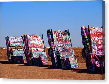 Cadillac Ranch  Canvas Print by Susanne Van Hulst