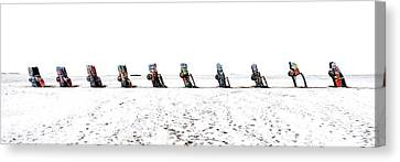 Cadillac Ranch Whiteout 001 Canvas Print by Lance Vaughn