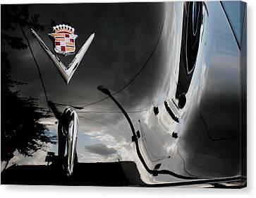 Streetlight Canvas Print - Cadillac Reflection by Robert Meanor