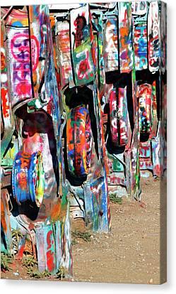 Amarillo Texas Canvas Print - Cadillac Style by Ricky Barnard
