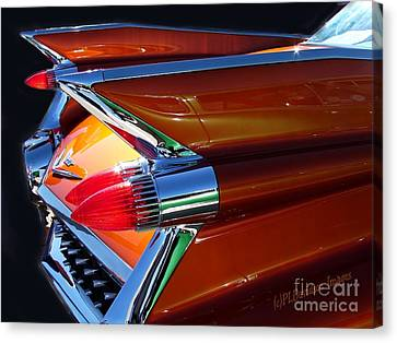 Canvas Print featuring the photograph Cadillac Tail Fin View by Patricia L Davidson