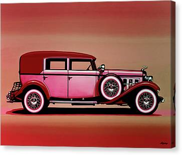Cadillac V16 Mixed Media Canvas Print
