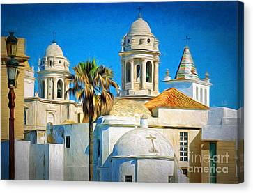 Cadiz Cathedral Canvas Print by Sue Melvin