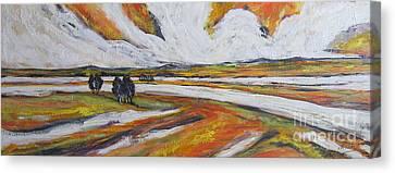 Cadmium Yellow Canvas Print by Debora Cardaci