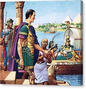 Caesar And Cleopatra Canvas Print by Pat Nicolle