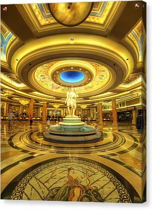 Caesar's Grand Lobby Canvas Print by Yhun Suarez