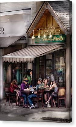 Cafe - Westfield Nj - Gabi's Sushi And Noodles Canvas Print by Mike Savad