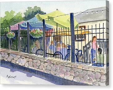 Cafe At Lock 29 Canvas Print by Marsha Elliott