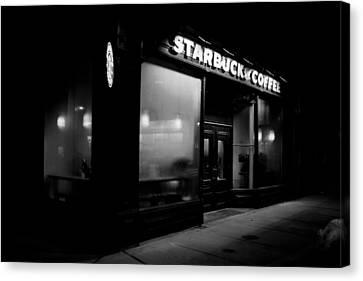 Cafe At Night  Canvas Print by Andrew Fare