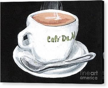 Cafe Au Lait Canvas Print by Elaine Hodges