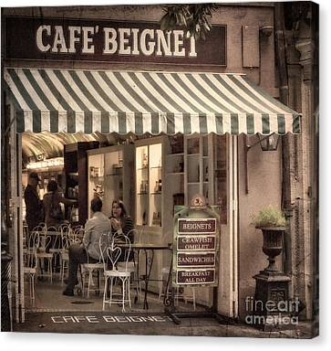 Cafe Beignet 2 Canvas Print by Jerry Fornarotto