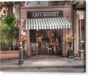 Cafe Beignet Canvas Print by David Bearden