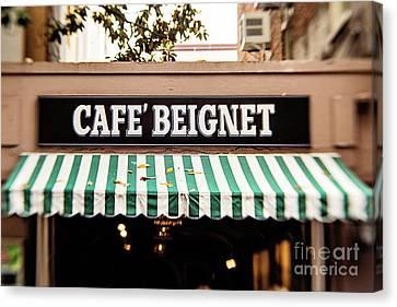 Cafe' Beignet Canvas Print by Scott Pellegrin