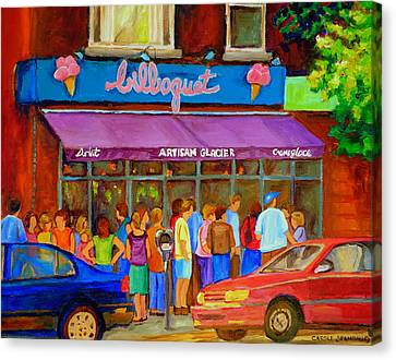 Cafe Bilboquet Ice Cream Delight Canvas Print by Carole Spandau
