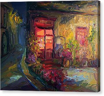 Cafe Camelot  Canvas Print by Roland Kay