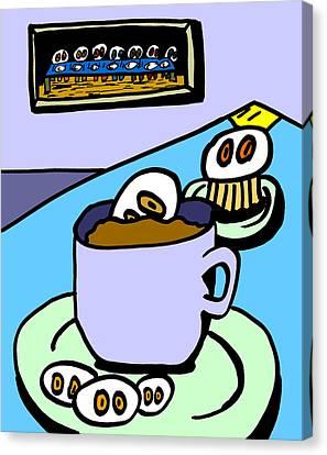 Cafe Cronkle Canvas Print by Jera Sky