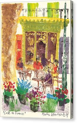 Cafe De France Canvas Print