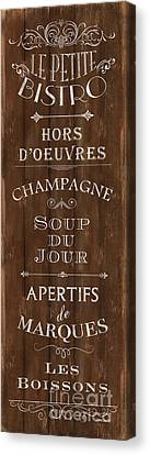 Bistro Canvas Print - Cafe De Paris 2 by Debbie DeWitt