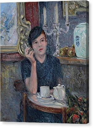 Cafe De Paris  Canvas Print by Pierre Van Dijk