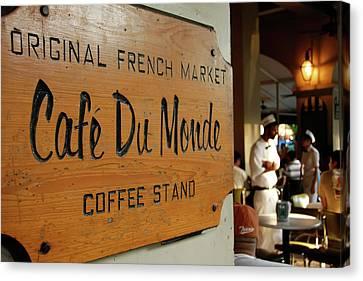 Cafe Du Monde Canvas Print by KG Thienemann