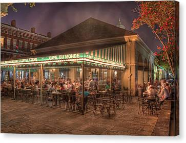 Cafe Du Monde Canvas Print by Steve Ellenburg