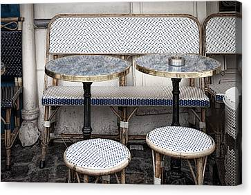 Cafe For Two Canvas Print by Andrew Soundarajan