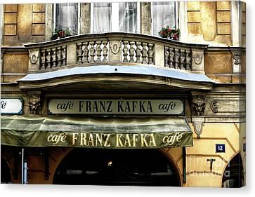 Cafe Franz Kafka Canvas Print