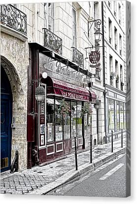 Cafe In Paris Canvas Print by J Pruett