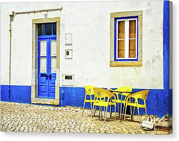 Canvas Print featuring the photograph Cafe In Portugal by Marion McCristall