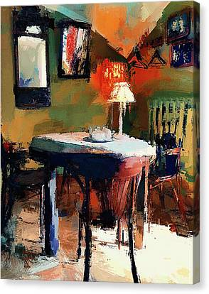 Cafe Interior 2 Canvas Print by Yury Malkov