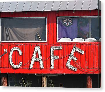 Canvas Print featuring the photograph Cafe by John Hix