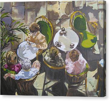 Cafe Canvas Print by Julie Todd-Cundiff