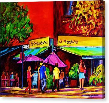 Cafe La Moulerie On Bernard Canvas Print by Carole Spandau